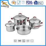 18/10 de acero inoxidable utensilios de cocina establecido 7pcs Stewpot Cazuela de pan (SB-1624)