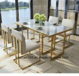 Projetos baratos da tabela de jantar do vidro Tempered da mobília moderna do quarto