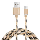 2Un nylon tressé téléphone mobile de charge rapide de câble USB