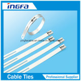 Tipo multi ataduras de cables del bloqueo de la lengüeta del acero inoxidable