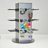 Estante de visualización giratorio de acrílico de encargo con los ganchos de leva