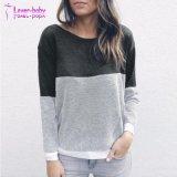 V pescoço atravessam o bloco de cores cruzadas pulôver suéter
