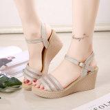 Новый весной и летом с толстыми водонепроницаемый сандалии пятки женщин повседневная обувь рот Size Small код 35-39