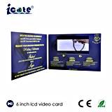 Folheto video muito bonito do LCD de 6 polegadas para o negócio/cumprimento/convite/presente