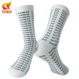 Kundenspezifischer Baumwollgroßverkauf-glückliche bunte Unisexkleid-Socken