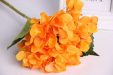 Fiore artificiale del Hydrangea del fiore di plastica all'ingrosso poco costoso della seta artificiale