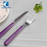 대중적인 디자인 자주색 색깔 과일 칼 및 포크