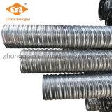 Poste tendant autour du conduit ondulé de spirale en métal