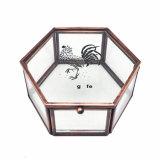 Rectángulo de joyería de cristal del metal hecho a mano al por mayor de la manera para la boda romántica