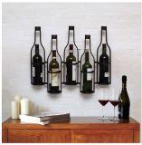 Montaje en pared Vintage Botella de vino de alambre titular de la pantalla
