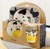 Комплект Dinnerware волокна изготовленный на заказ Biodegradable Tableware малышей Bamboo