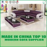Sofà di legno stabilito del cuoio genuino della mobilia di Divany
