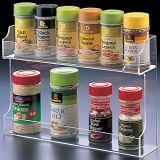 2つの棚のアクリルの香辛料用の棚のオルガナイザー、キャビネットの台紙の潜在性