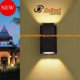 MAZORCA ligera moderna 6W LED del estilo LED Updown en IP65 para las decoraciones