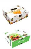 Caixa de papel ondulada feita sob encomenda grande da fruta da parte superior & da parte inferior da impressão