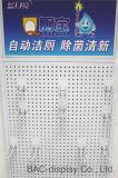 Kundenspezifische Firmenzeichen-Speicher-hängende Haken Pegboard Bildschirmanzeige-Zahnstange