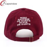 수를 놓은 100%년 Brushed Cotton Twill Dad Cap Face Cap Baseball Cap 또는 Hat