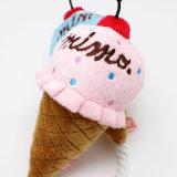 Juguete del animal doméstico del helado de la felpa con el sonido