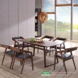 Esszimmer-Möbel stellten festes Holz-Tisch und PU-ledernen Stuhl ein