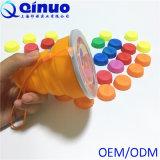 Toutes les tailles et cuvettes pliables de silicones de catégorie comestible de couleurs