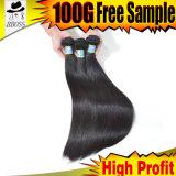 10A première queue de cheval normale non transformée de cheveux humains de la pente 100% directement