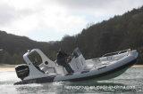 Canots rigides de console centrale de bateau de fibre de verre de bateaux de côte de Liya 20feet Hypalon