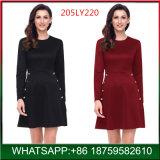 卸し売り女性の長い袖の方法オフィスの女性Black Dress