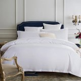 Plain Tingidos 100% algodão Luxury Hotel Bedding Consolador definido (CCI233)