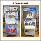 Encimera Soft servir helado máquina con el titular de los conos