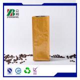 Reforço lateral descartáveis Bloqueio Zip sacos de café com válvula unidirecional
