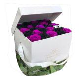 명확한 바늘 모양 명확한 뚜껑 상단과 바닥 작풍 꽃 포장 상자를 가진 인쇄된 종이상자