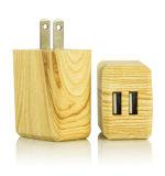 Noi caricatore doppio di legno del telefono mobile del USB dell'Ue 5V 2A