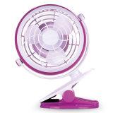 Clip sul USB del ventilatore dello scrittorio o sull'un ventilatore da tavolo mini d'impostazione Required a pile per la casa del dormitorio dell'ufficio del passeggiatore del bambino ed usando esterno