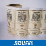 Kleber lamellierter Rollensatin-Kunst-kundenspezifischer Papieraufkleber