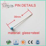 Perni diritti della testa di vetro variopinta della perla di alta qualità 38mm per Dressmaking
