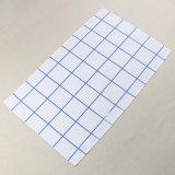 ふきんの工場台所装飾の青い点検されたパターンによって印刷されるあや織りの綿の皿タオル