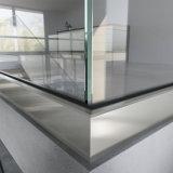 Aluminiumu niedriger Kanal-Glasgeländer des Balkon-für Plattform Intalled Entwurf