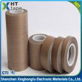 Fita resistente ao calor adesiva do Teflon da alta temperatura PTFE do silicone