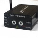 Lumières vert clair et bleues de petit laser de laser d'étape de lumières d'exposition de maison d'usager