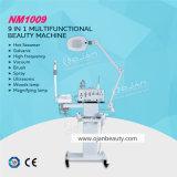 9 in 1 macchina facciale con la strumentazione galvanica d'ingrandimento di bellezza di massaggio di HF della STAZIONE TERMALE della lampada del vapore facciale dell'ozono