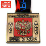 El deporte de alta calidad personalizado Metal medalla con la cabeza de dragón