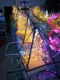Для использования вне помещений волшебная освещение работает от батареи, теплого белого света строки 20 футов 20 светодиодов медного провода Firefly лампа для патио, свадьбы, водонепроницаемый