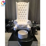 Rey Throne White Pedicure Chair con tecnología del lavabo del alimento preside al por mayor