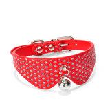 Collare di cane rosso della nuova sciarpa stretta di Bling