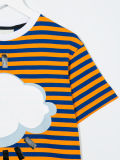 カスタム女の子の雲によって印刷されるしまのあるTシャツ