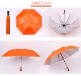 Sección del paraguas 3 de la botella del regalo de la promoción plegable el paraguas manual
