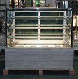 De marmeren Ijskast van de Vertoning van de Cake van het Glas van de Basis voor Bakkerij Shop (St780v-m)
