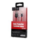 cable de alta velocidad trenzado de nylon del USB del micr3ofono 2.1A y cable de la sinc. de los datos para el móvil de Andriod