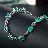 ヨーロッパ優雅なエメラルドのBreceletの女性の装飾党方法宝石類