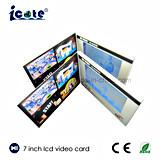 印刷の最もよい価格7のインチLCDのビデオパンフレットのビデオカード